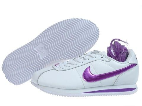 Women White/Purple Nike Cortez Air Force 1 low 06 Running Shoes