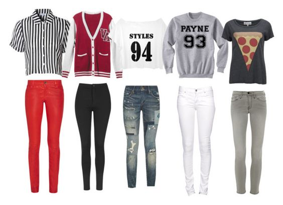 """""""Which is who?"""" by kashawna-watson ❤ liked on Polyvore featuring Glamorous, Alice + Olivia, RVCA, Topshop, Polo Ralph Lauren, Citizen of Humanity, Wildfox and Frame Denim"""