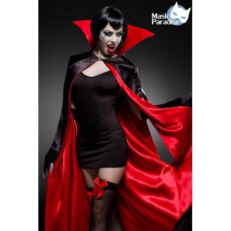 Sexy Vampire Kostüm Komplettset im Sortiment bei http://fashionmoon.eu