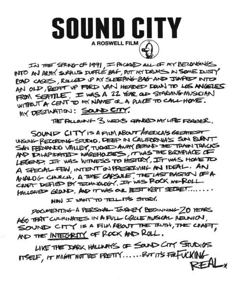 Dave Grohl To Direct Music Studio Documentary 'Sound City'