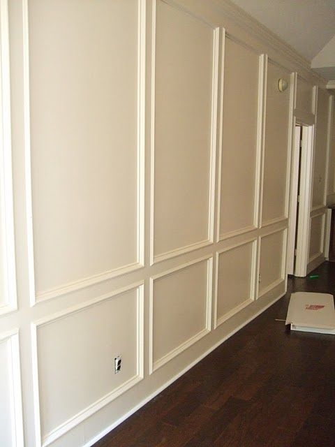 Panelling Paneling Painted And Picture Frame Molding On