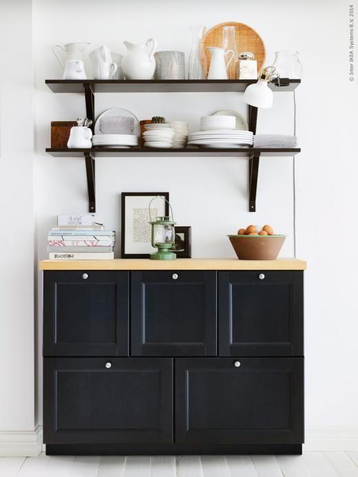 metod k kssk p med laxarby l dfronter i svartbrunt h r kompletterad med ekby j rpen ekby valter. Black Bedroom Furniture Sets. Home Design Ideas