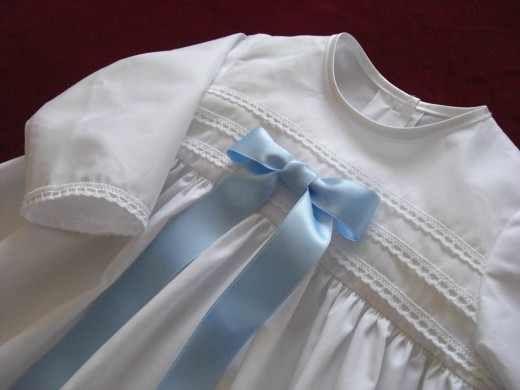 Taufkleid Gloria Blue Aus Baumwolle Taufbedarf Taufkleid Zur Taufe Kleider