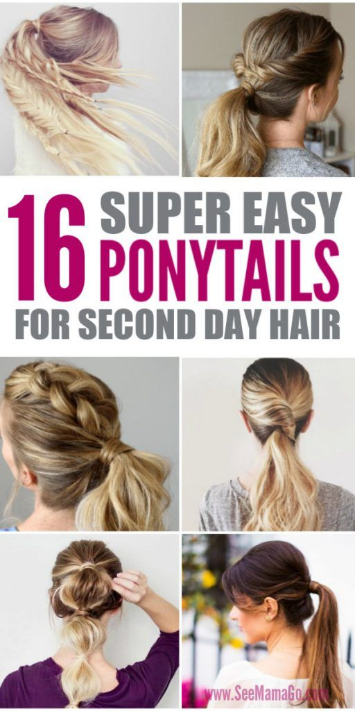 Easy Ponytail Hairstyles For Long Hair Medium Hair Easy Hair Tutorials Perfect Ponytails For In 2020 Easy Hair Updos Ponytail Hairstyles Easy Hair Ponytail Styles