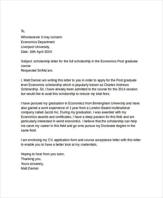 Letter Applying For Education Job Application Sample With Bursary