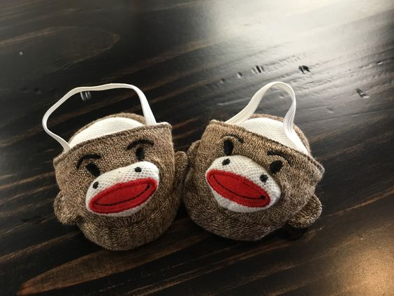 "Monkey Shoes for American Girl 18"" Doll"