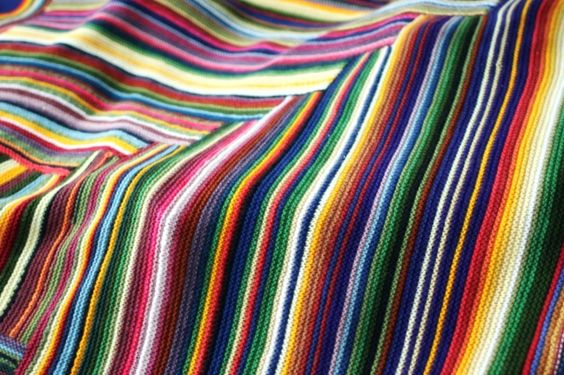 love garter stripes! blanket by Cauchy.