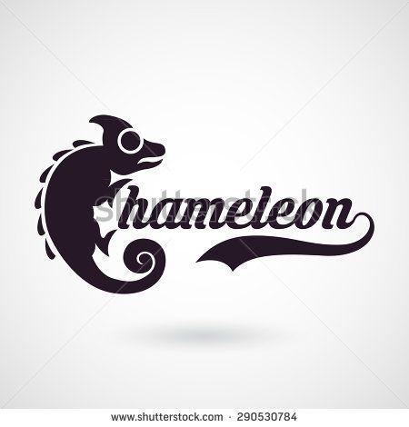 chameleon logo vector - stock vector