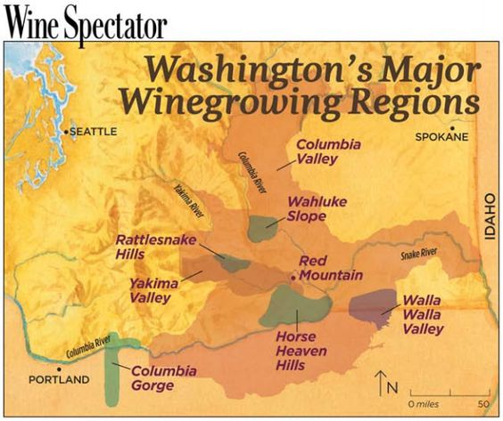 Washington State's Major Wine Regions
