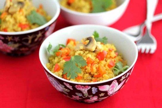 Rice Cooker Quinoa Mushroom Pilaf