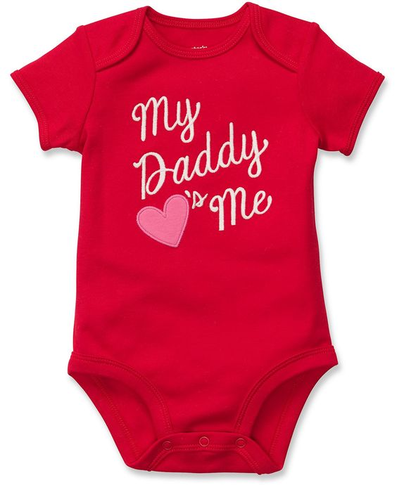 """Baby Clothes: Carter's """"My Daddy's Love's Me"""" Baby Girl Onesie"""