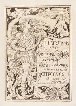 Design for 'Illustrations of the Victorian Series and Other Wall-Papers' by Walter Crane, about 1887 l Victoria and Albert Museum #art #illustration