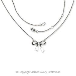 120: Bow Necklace from James Avery