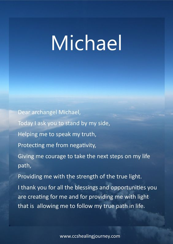 Archangel Michael prayer and blessing for protection and guidance. #angels #messages #healing