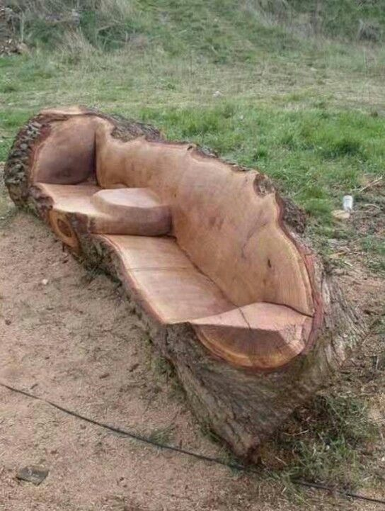 Cool idea for outside seating .... Wonder how I would treat it to prevent decay...