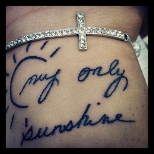 Tattoo Ideas You Are My Sunshine: Sunshine Tattoos, My Sunshine And You Are My On Pinterest