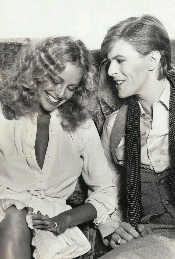 Bowie and Sydne Rome, Paris July 1977