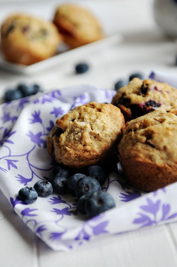 Banana Blueberry Muffins- just made these: I added some flaxseed meal (for baby) and a dash of cinnamon and nutmeg! Hopefully they turn out awesome!
