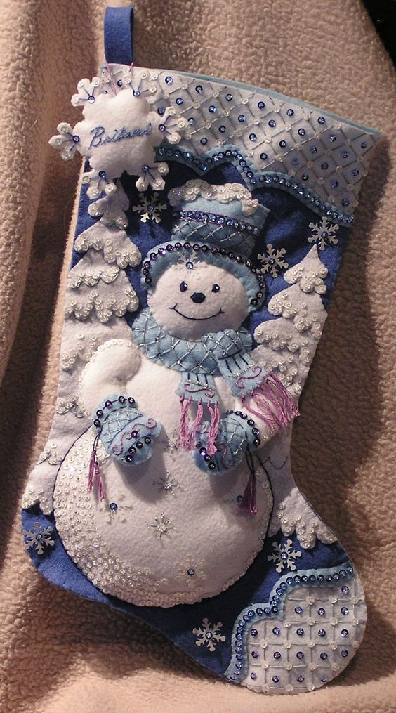 A new felt Christmas stocking for my daughter.: