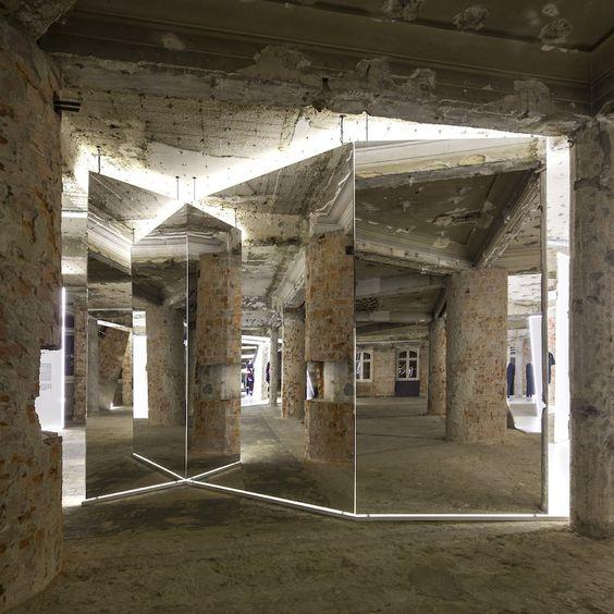 Felipe Oliveira Baptista at MUDE / Bureau Betak  Exhibition-Mirrors-Architecture-exhibit