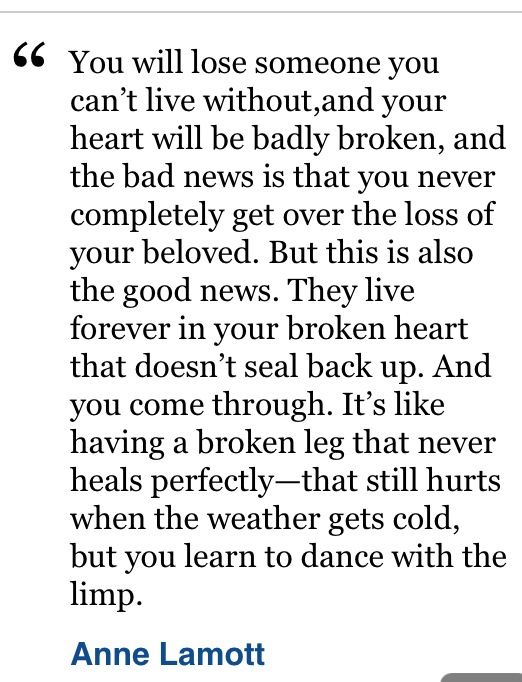 Great quote on grief!                                                       …