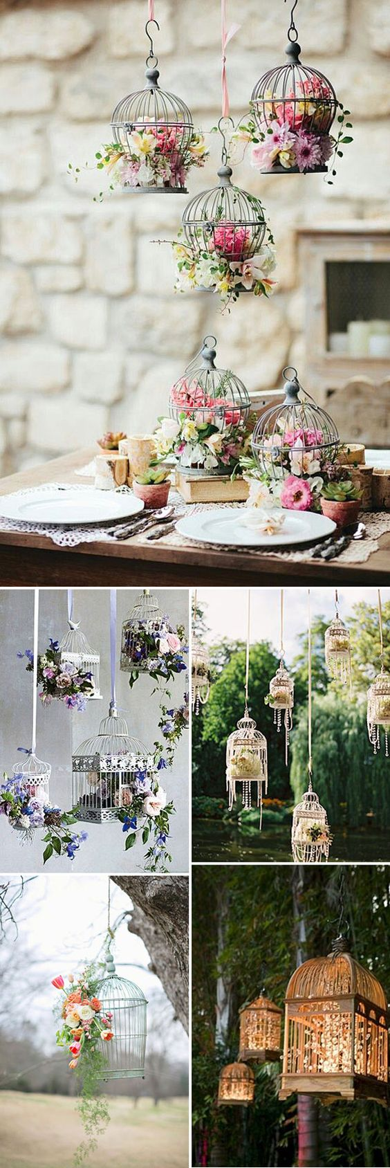 Jaulas para decorar tu boda wedding birdcage wedding for Decoracion bodas valencia