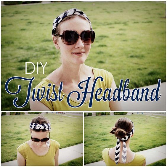 diy fabric twist headband tutorial