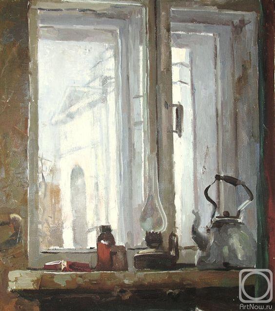 Яцута Евгений. Вид из окна мастерской на Ñрам св. Мартина Исповедника