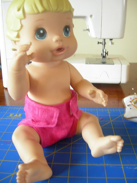 Baby Alive Diaper Tutorial Doll Clothes Pinterest