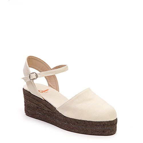 Castaner Womens Clara Wedge Esparille CLARA3EDcanvas Ivory SZ 38 >>> You can get additional details at the image link.