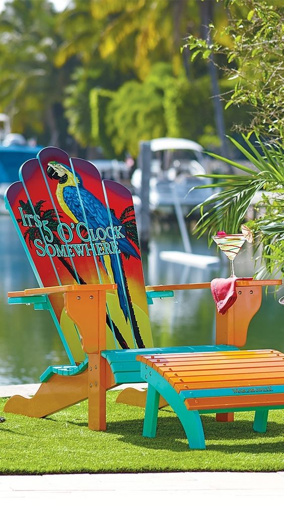 our margaritaville adirondack chair features everything