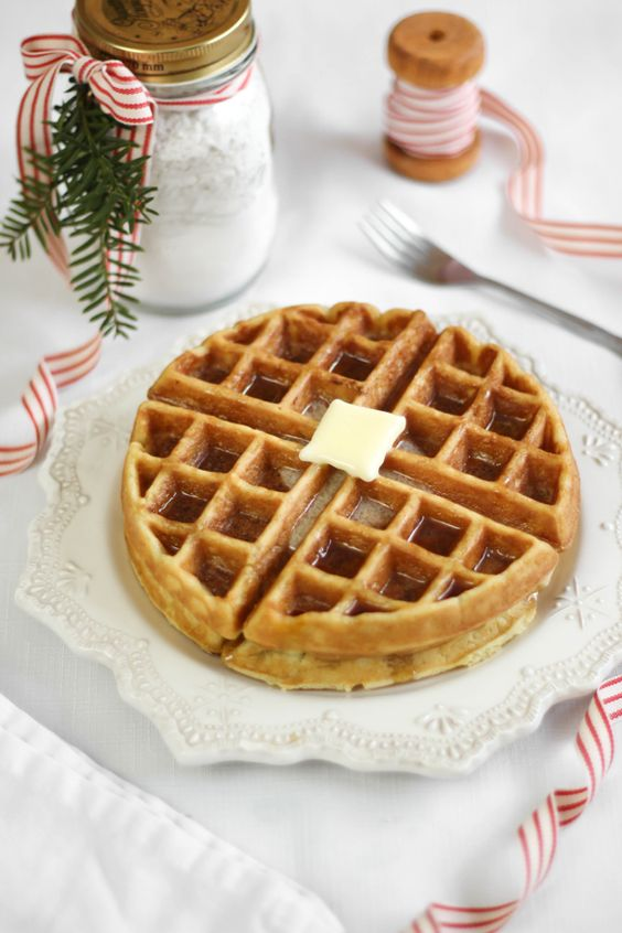 (DIY Waffle Mix)   Last week we packed up the pugs and some warm clothes and headed to a little cabin in the mountains for a pre-Christma...