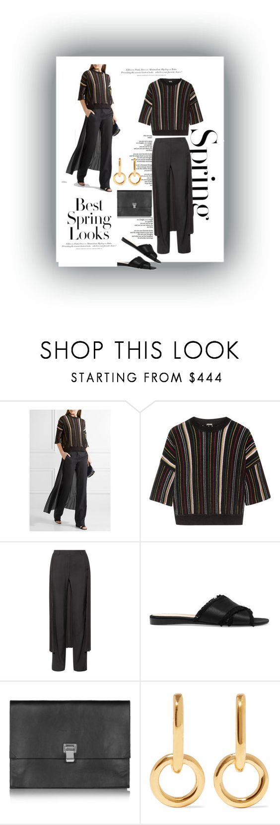 """""""Spring new casual fashion"""" by rousou ❤ liked on Polyvore featuring H&M, ADAM, Gianvito Rossi, Proenza Schouler and Sophie Buhai"""