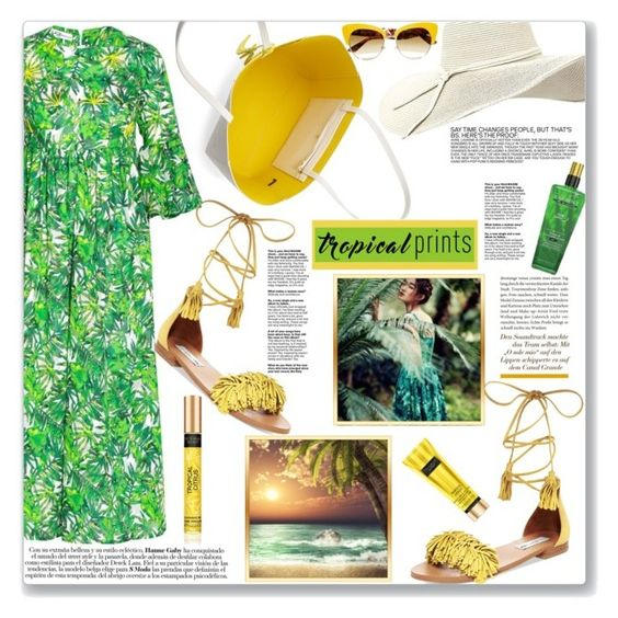 """Tropical Prints"" by mood-chic ❤ liked on Polyvore featuring Steve Madden, Kate Spade, Dolce&Gabbana, tropicalprints and hottropics"
