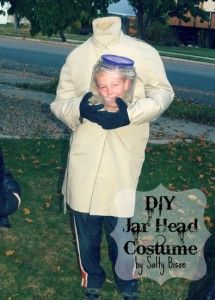 DIY head in a jar costume