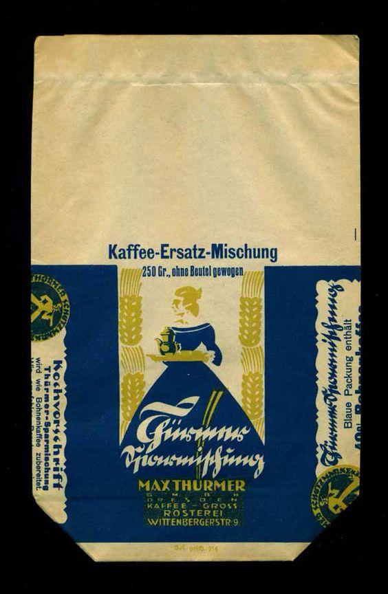 Kaffeebeutel von Max Thürmer, Dresden - für 250 gr. Kaffee-Ersatz-Mischung (1/1)