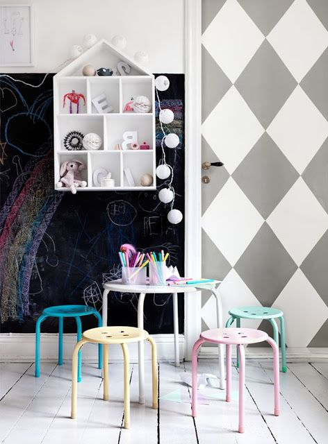 Blackboard kids room: