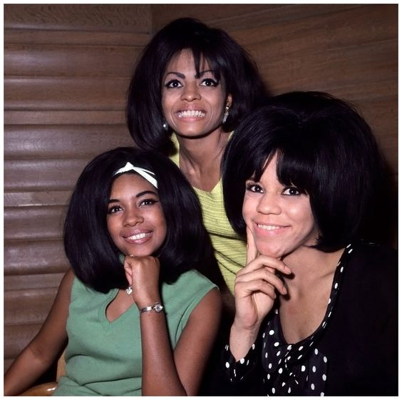 The Motown Records trio The Supremes (left to right, Mary Wilson, Diana Ross, and Florence Ballard), photographed on March 22, 1965:
