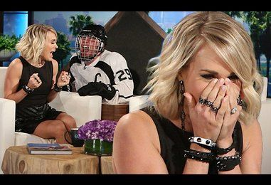 Ellen DeGeneres pranks Carrie Underwood by scaring her