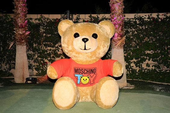 Moschino Coachella Party: A giant logoed teddy bear decorated the Moschino party hosted by Jeremy Scott.