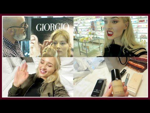 Vlog: Armani Beauty in Riga. Caught in The Rain. Little Black Dress - YouTube