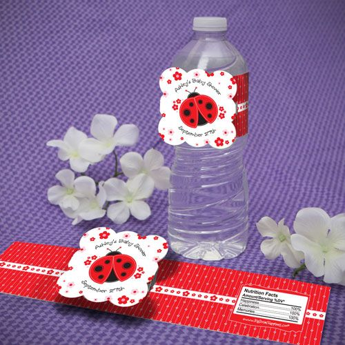 shower favors favors baby showers ladybug baby showers bottle showers