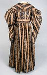 Apricot & Brown Stripe Day Dress, c. 1830 - Lot 94 $2,530