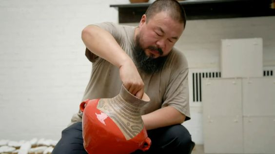 """Ai Wei Wei (""""destroying"""" neolithic vases circa 3000 BC)"""