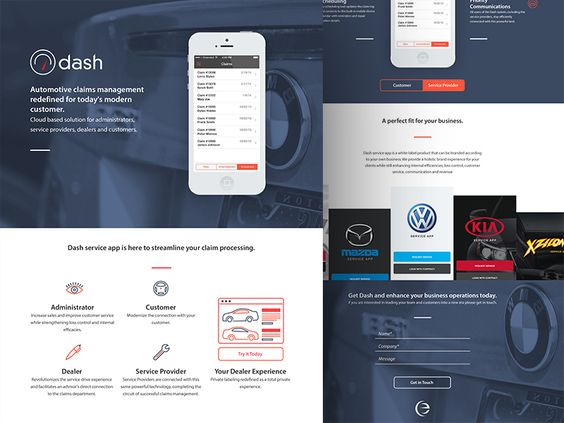 Dash One Pager by Wyatt Gaines for eTecc / Interactive