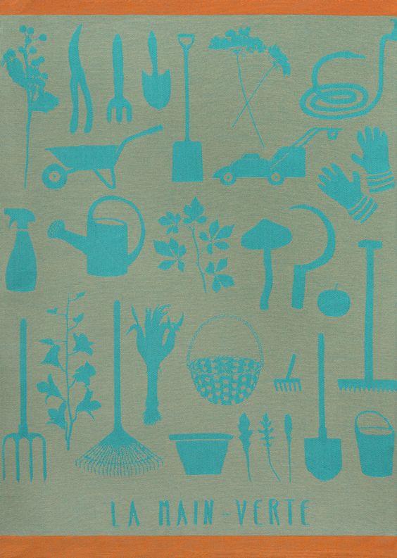 #handtuch #geschirrtuch #outils #jardin #faitmain #garten #jacquard #coton #baumwolle #torchon #produziert #frankreich #beibibiberlin