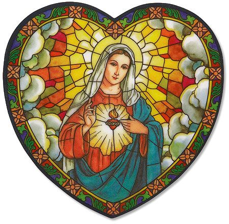 Immaculate Heart of Mary stained glass