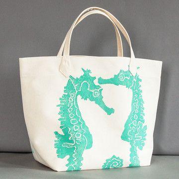 so summery! {Seahorse Canvas Bag by Dermond Peterson}