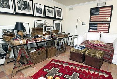 Mary Emmerling's office-desk and sofa from bungalowaz.com