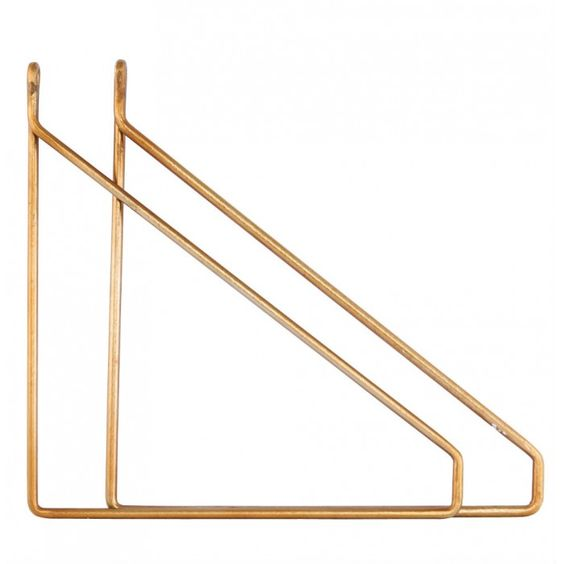 Set of 2 Brass Brackets by House Doctor